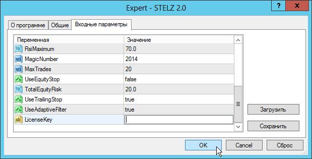 Установка советника STELZ, шаг 7